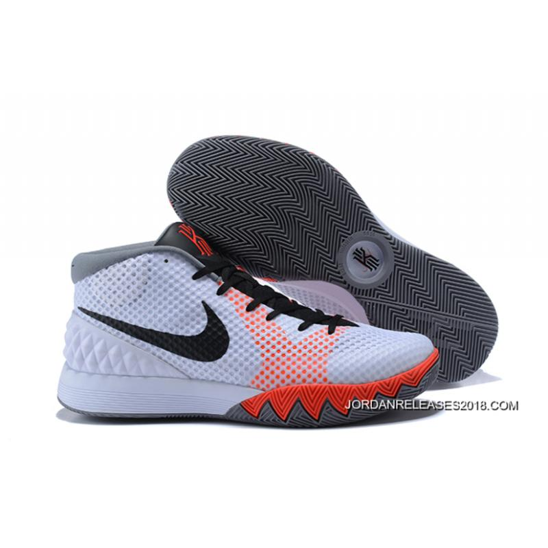 Nike Kyrie 1 Infrared Sneakers (White/Black-Dove Grey-Infrared)