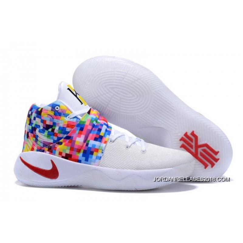 "390335793df1 2018 Best Nike Kyrie 2 ""Effect"" White-Red Multi-Color ..."