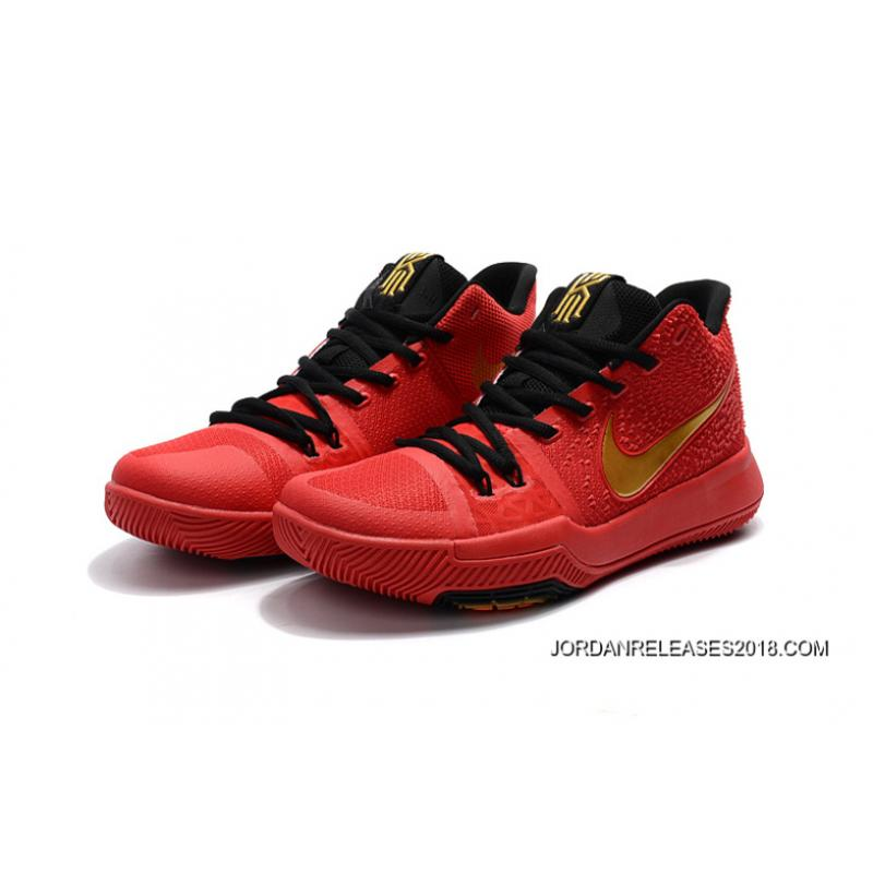 pretty nice 76622 ef4be Online Nike Kyrie 3 University Red/Black-Gold, Price: $87.67 - New ...