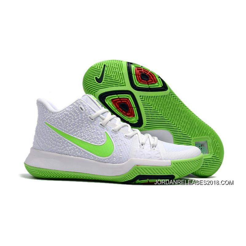 "5664333c0593 2018 Best Nike Kyrie 3 ""Mountain Dew"" White Light Green ..."