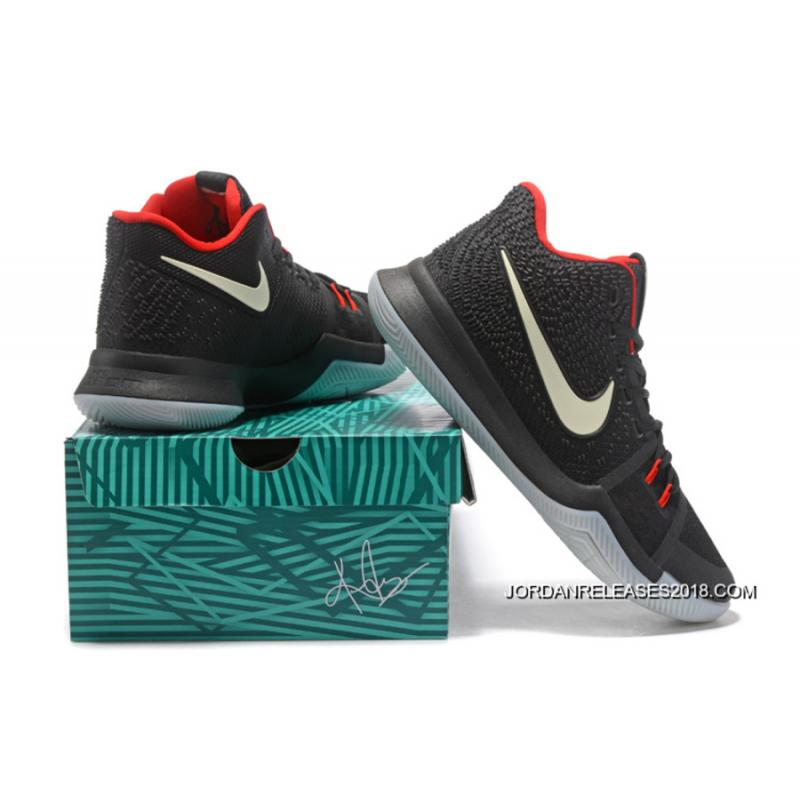 Cheap Glow In The Dark Nike Kyrie 3 BlackRed For Sale New Year Deals