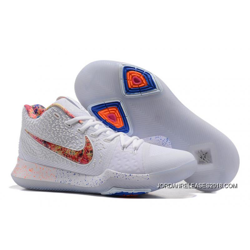 outlet store ef4f5 6c77f switzerland 2018 for sale nike kyrie 3 eybl pure platinum multi color 2660c  f55f8