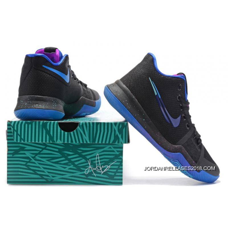 "... 2018 New Year Deals Nike Kyrie 3 ""Flip The Switch"" Black/Deep Royal"