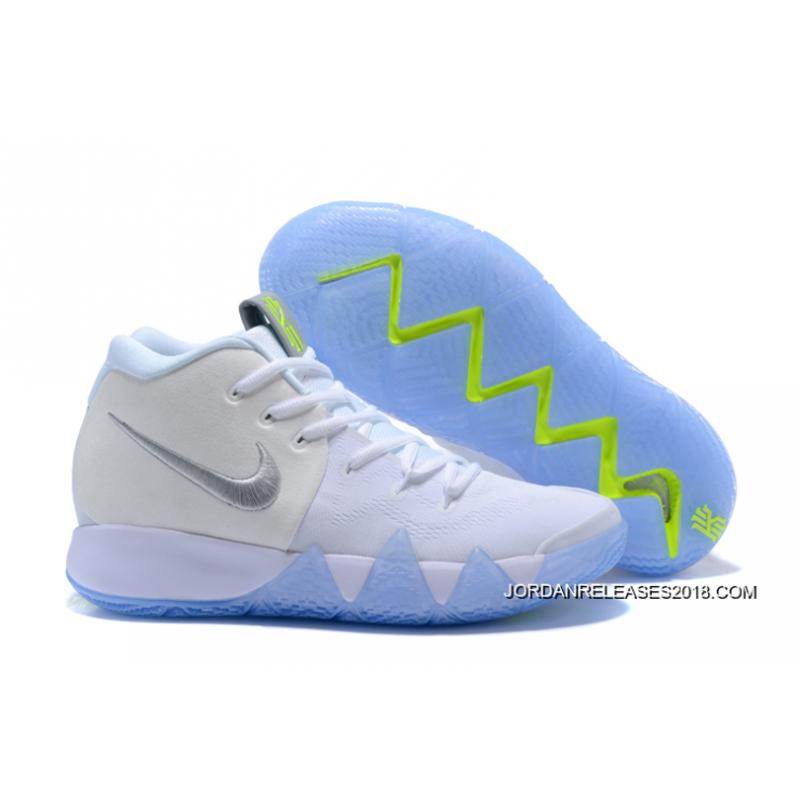 2018 New Style Nike Kyrie 4 White/Volt ...