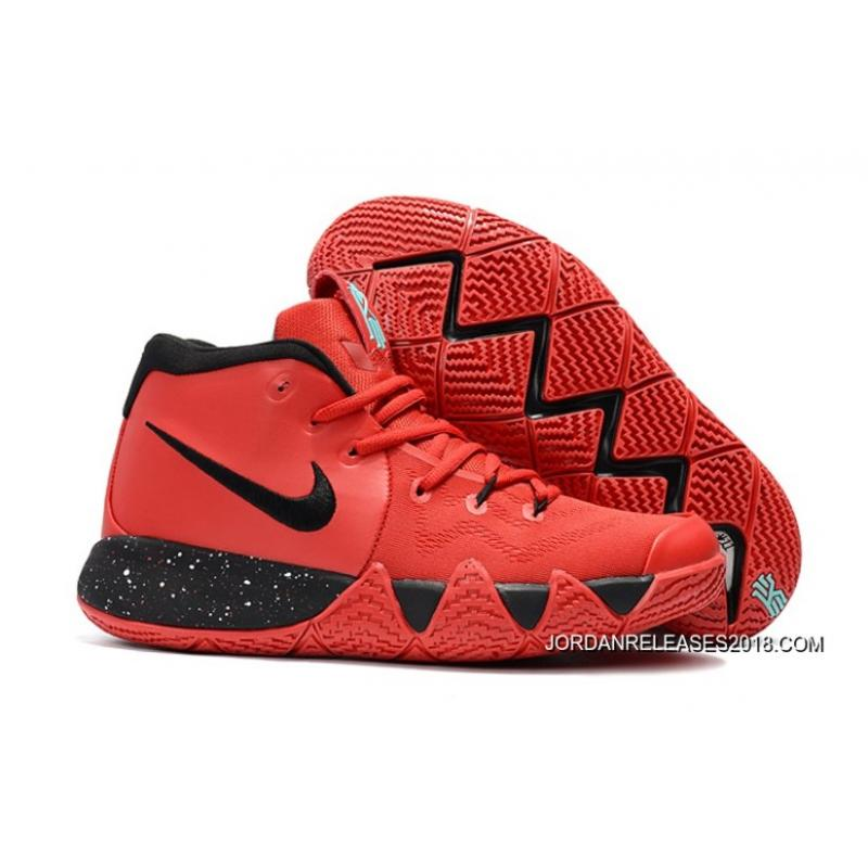 2018 Nike Kyrie 4 ObsidianWhiteUniversity Red Outlet