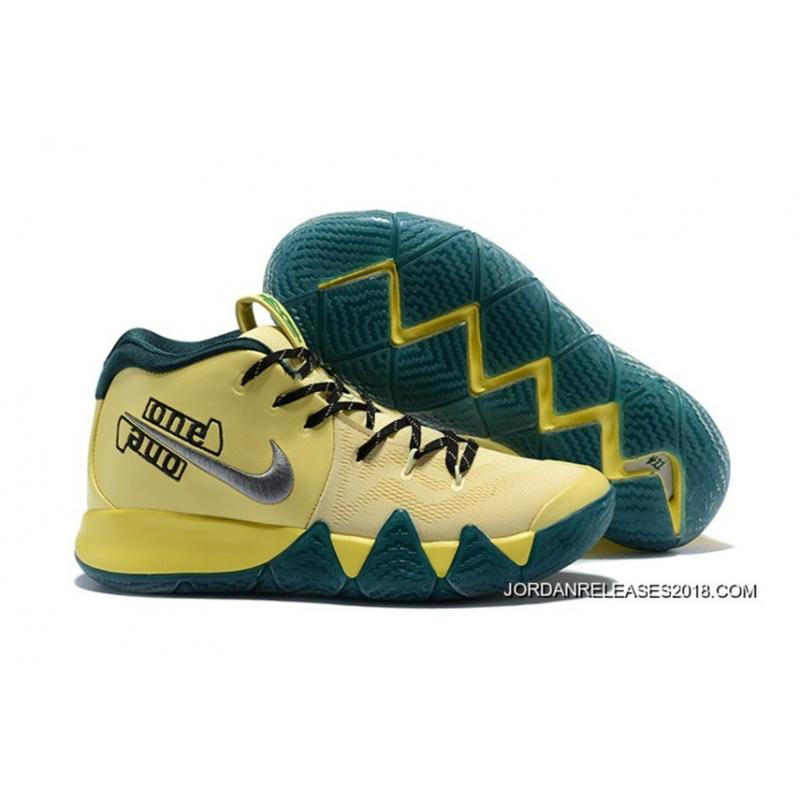 "6bd5b7e3e892 2018 Latest Nike Kyrie 4 ""Magic"" PE Yellow Grey ..."