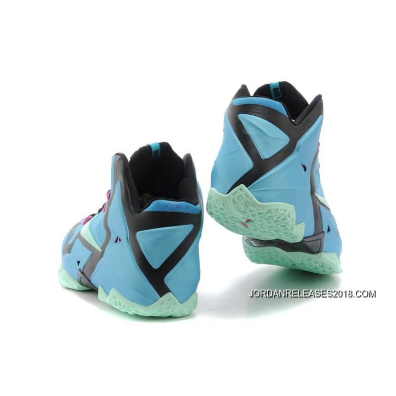 "best website 43284 07393 ... 2018 New Year Deals Nike LeBron 11 ""South Beach"" Turquoise Black-Pink  ..."