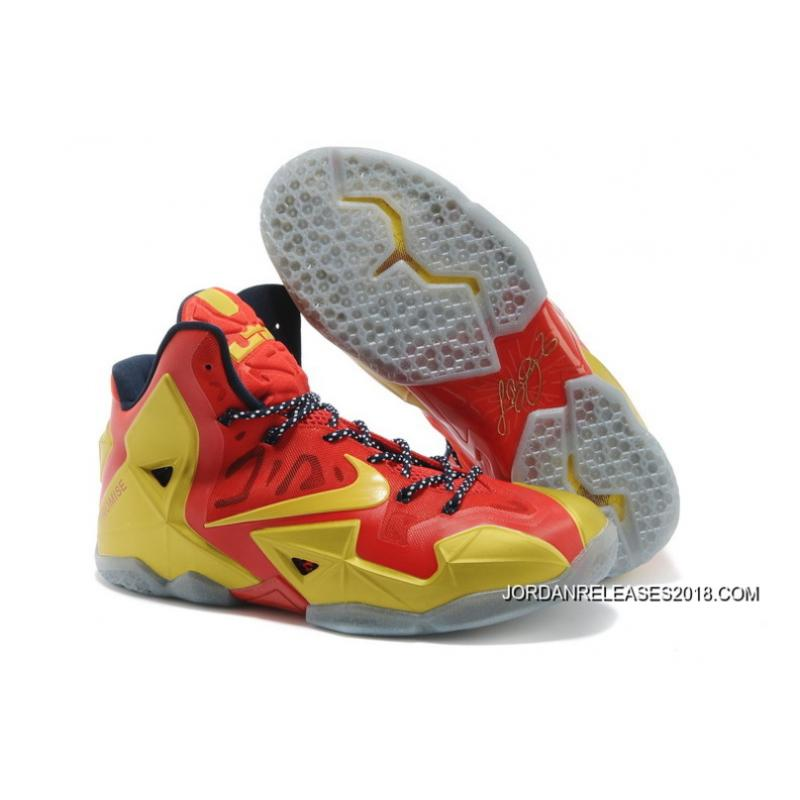 """reputable site a4829 1de19 2018 Best Nike LeBron 11 """"Ring Ceremony"""" PE Sport Red Metallic Gold- ..."""