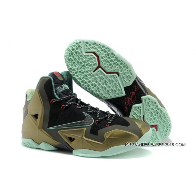 "sale retailer fab55 7cdea 2018 New Year Deals Nike LeBron 11 ""King s Pride"" Parachute Gold Arctic  Green ..."