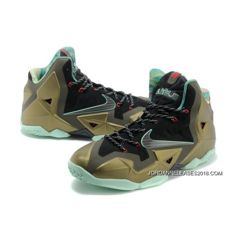 "online store e4971 f7140 ... 2018 New Year Deals Nike LeBron 11 ""King s Pride"" Parachute Gold Arctic  Green ..."