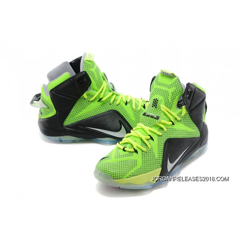 cheap for discount 89852 a1981 ... sale best nike lebron 12 neon greenblack silver . 42427 847e6