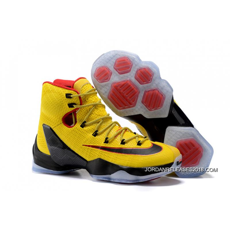 2018 Top Deals Nike LeBron 13 Elite Yellow Black-Red ... 1bd5ab6cd