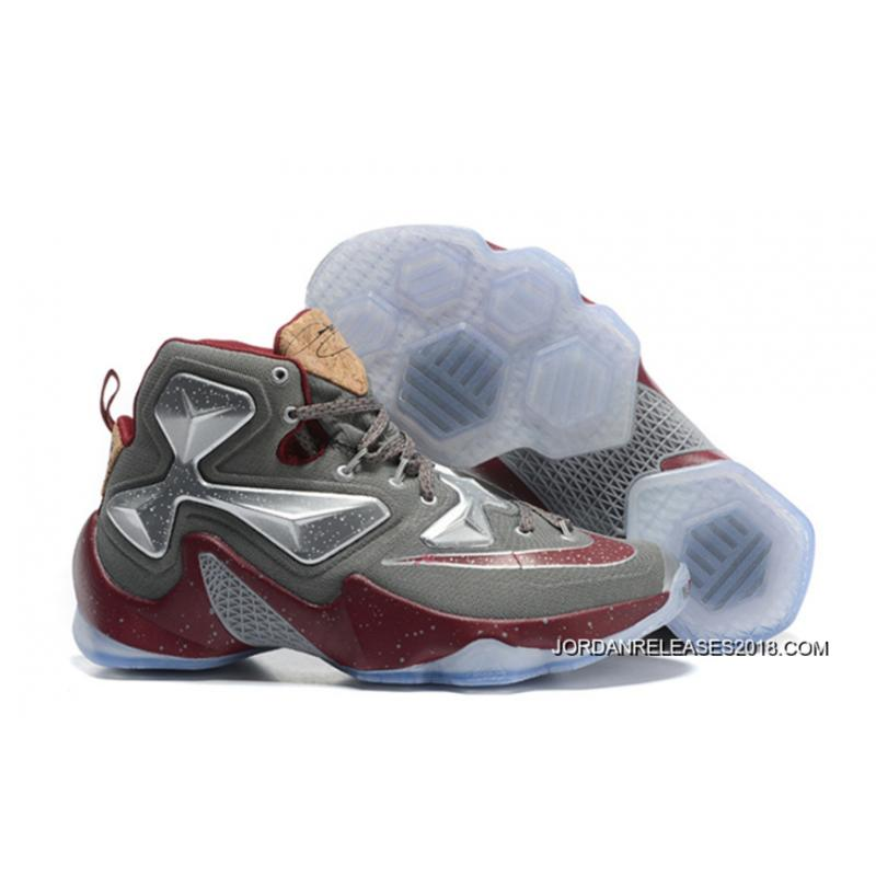 "5cba10d02d04 Nike LeBron 13 ""Opening Night"" Fine Wine Wolf Grey Basketball Shoes 2018  Outlet ..."