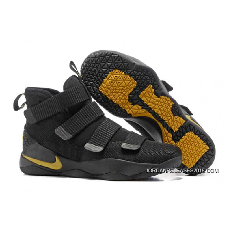 2018 Copuon Nike LeBron Soldier 11 Black/Golden Yellow ...