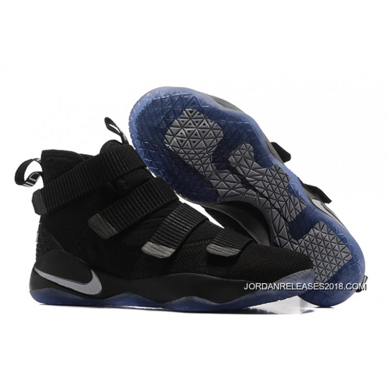 2018 New Year Deals Nike LeBron Soldier 11 Black Silver ...
