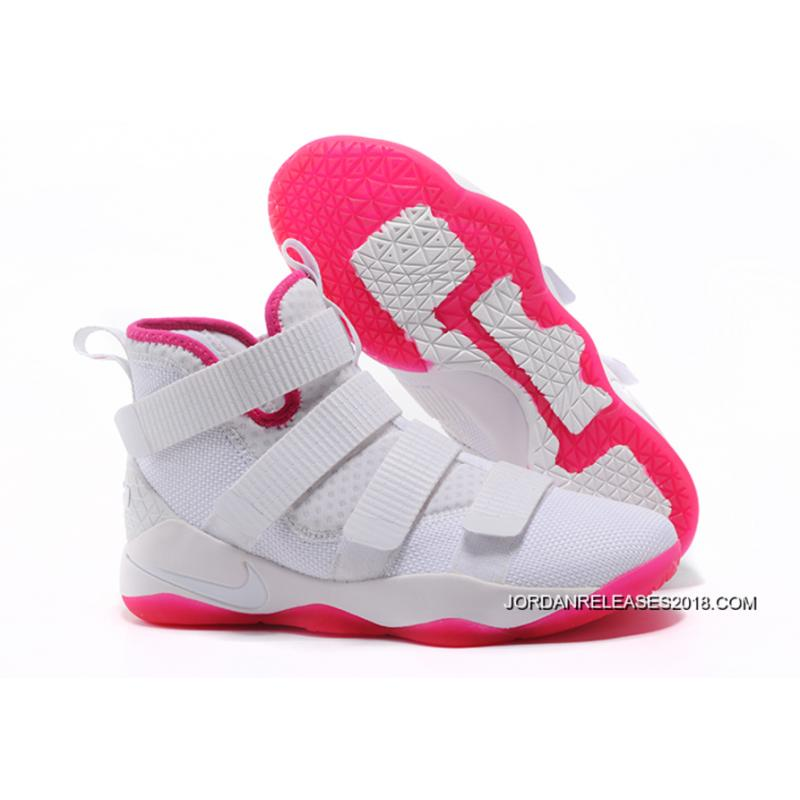 """Nike LeBron Soldier 11 """"Kay Yow"""" White Pink 2018 New Style ... 24cfd427f4"""