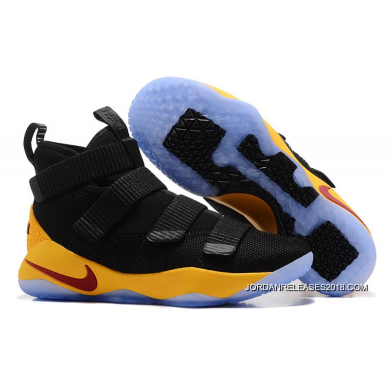 a95413452287 Nike LeBron Soldier 11 Black Yellow-Team Red 2018 Top Deals ...
