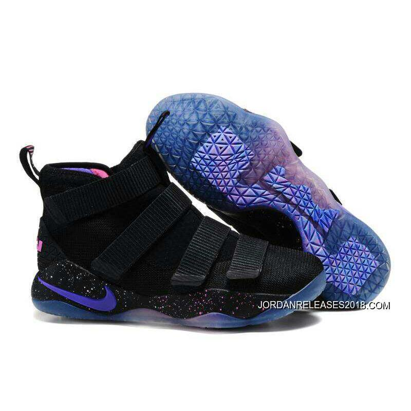 2018 New Year Deals Nike LeBron Soldier 11 Black Purple Pink