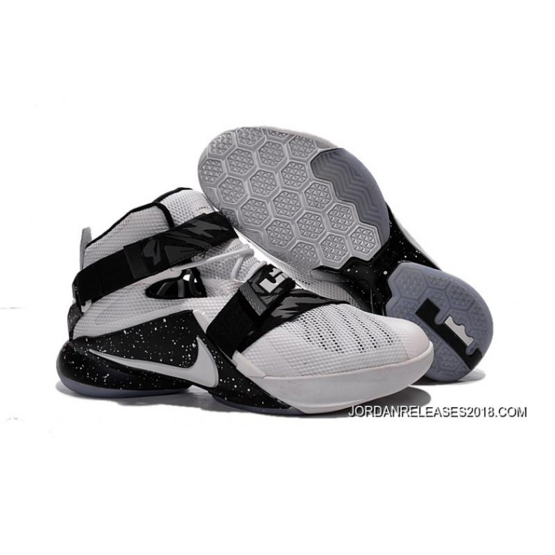 Nike LeBron Soldier 9 White Black Basketball Shoe