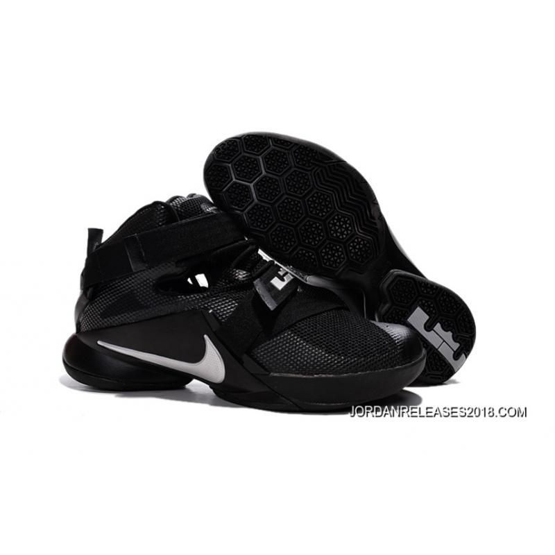 sports shoes 38172 328f8 ... ebay nike lebron soldier 9 blackout all black basketball shoe 2018  online 07c53 36715