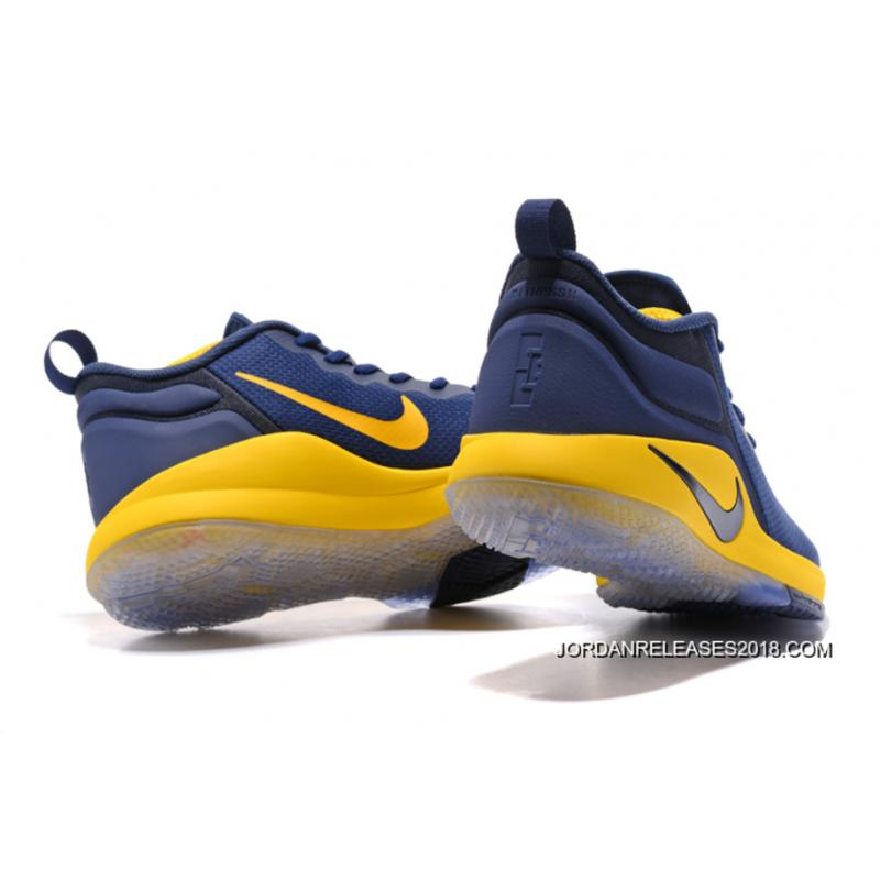 ... 2018 Free Shipping Nike LeBron Zoom Witness 2 Navy Blue/Yellow-Black Basketball  Shoes ...