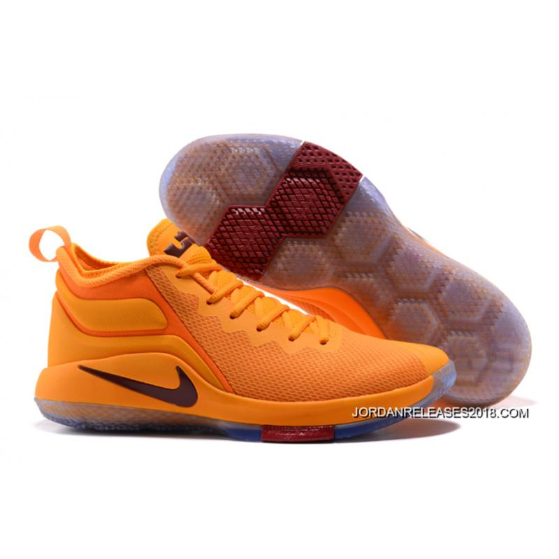 """2018 Top Deals Nike LeBron Zoom Witness 2 """"Cavs"""" Yellow Basketball Shoes ..."""
