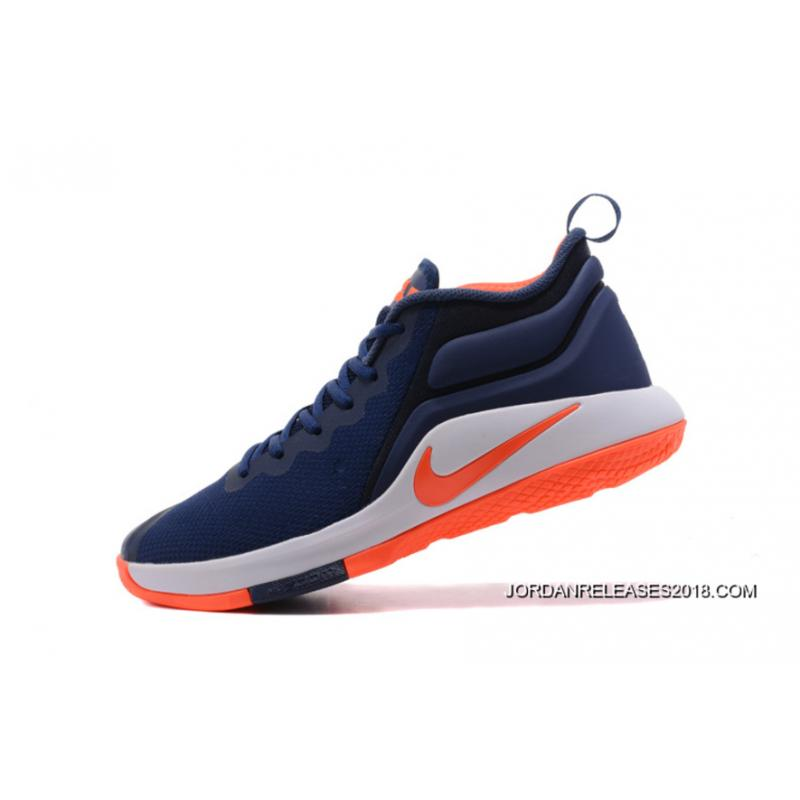 c557b6ffc465 2018 Super Deals Nike LeBron Zoom Witness 2 Navy BlueOrange-White Basketball  ...