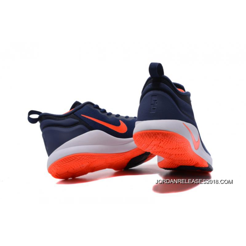6fc7c5423f5 2018 Super Deals Nike LeBron Zoom Witness 2 Navy BlueOrange-White Basketball  ...
