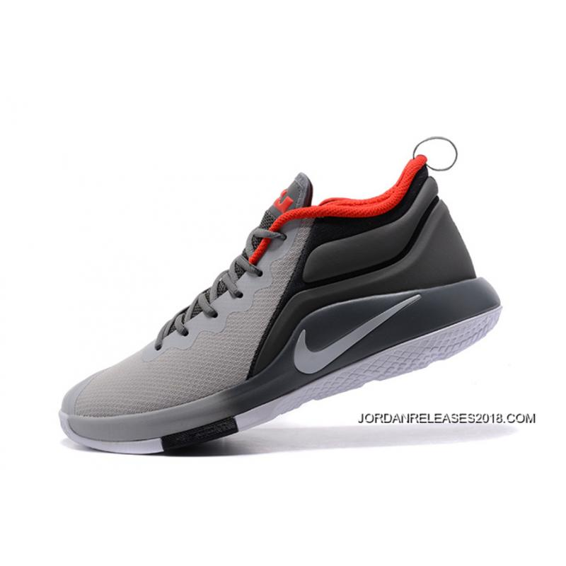 2018 discount nike lebron zoom witness 2 grey black red basketball shoes price 2018. Black Bedroom Furniture Sets. Home Design Ideas