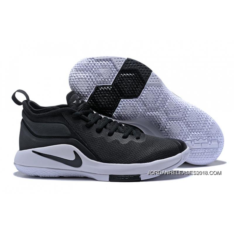 b8ea92600ed Nike LeBron Zoom Witness 2 Black White Basketball Shoes 2018 Latest ...
