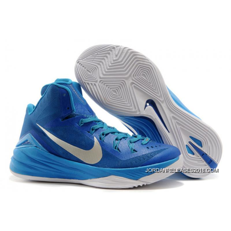 "low priced 592cf cd1a4 Nike Hyperdunk 2014 ""Game Royal"" Blue Hero Metallic Silver-White Free  Shipping ..."