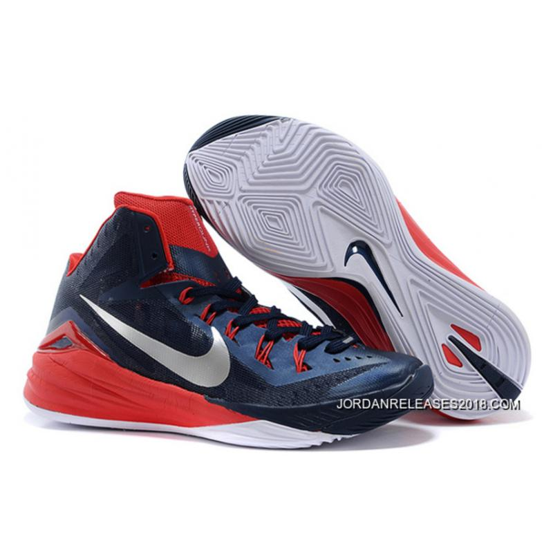 "2018 New Year Deals Nike Hyperdunk 2014 ""USA Away"" Obsidian White-University  ... 66520069a4c8"