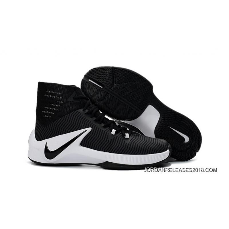 new products 94732 be37b ... norway nike zoom clear out black white basketball shoes 2018 copuon  adbd0 516f5