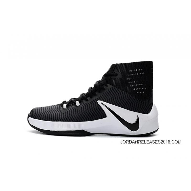 sale retailer 546f2 146c6 ... Nike Zoom Clear Out Black White Basketball Shoes 2018 Copuon ...