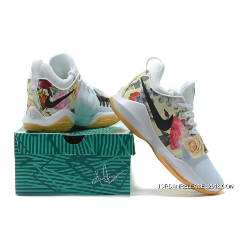 """... Discount Nike PG 1 """"White Floral Print"""""""