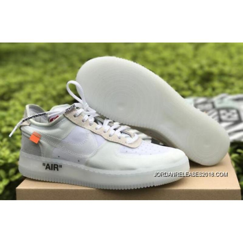 """OFF-WHITE X Nike Air Force 1 Low """"Ghosting"""" White-Sail 2018 Online ... f345539ea6f4"""