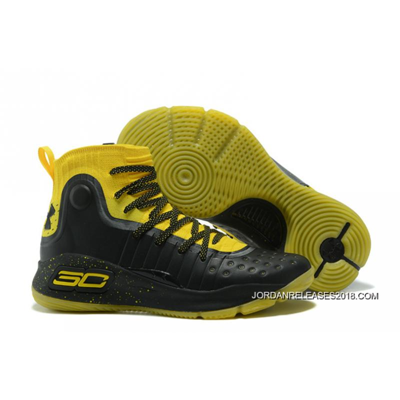 Under Armour Curry 4 Yellow Black 2018 For Sale ...