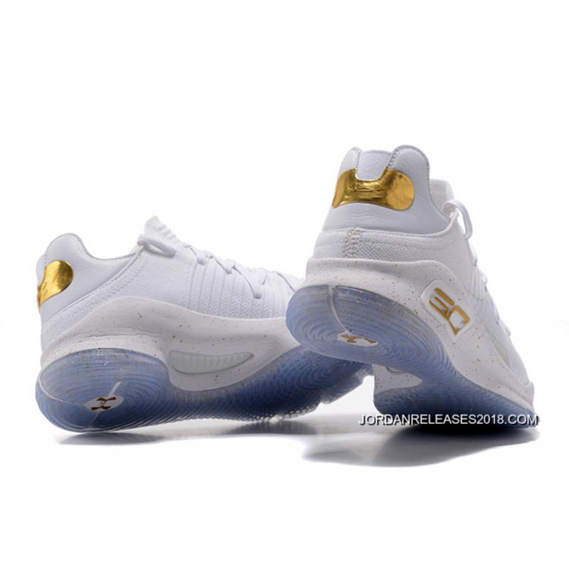 """f37adff1932c ... 2018 New Style Under Armour Curry 4 Low """"Chef White"""" White Gold ..."""