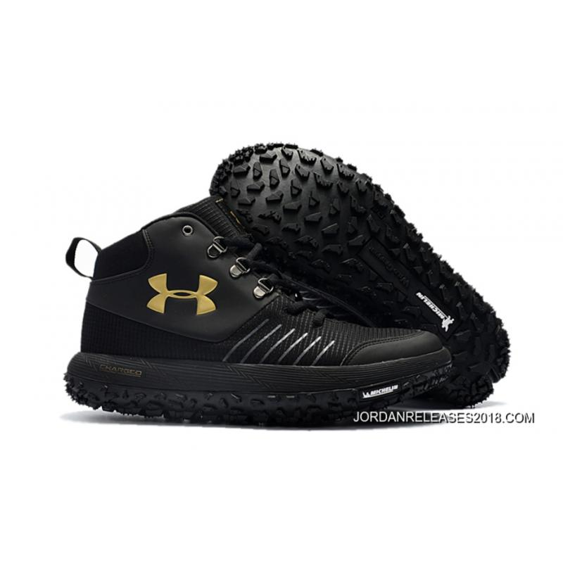 Under Armour Fat Tire Gtx Black Gold Hiking Boots Trail Shoes Discount