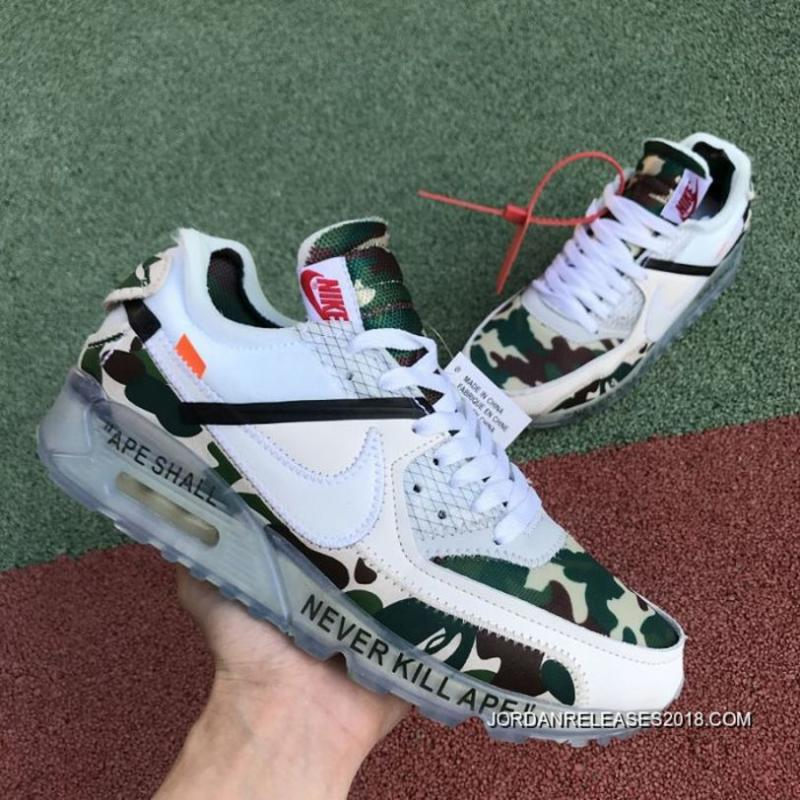 aeaf9e3d90 New Style Women OFF-WHITE X Nike Air Max 90 Sneakers SKU:3228-304 ...