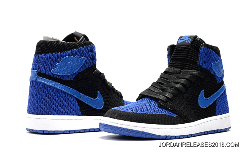 "new concept c4c60 43b09 Air Jordan 1 Flyknit ""Royal"" Black Game Royal-White 2018 Outlet"