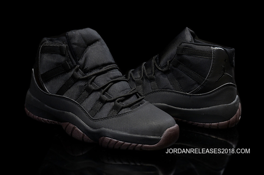 "on sale 12b24 56442 New Air Jordan 11 ""Matte"" Custom All Black 2018 New Style"
