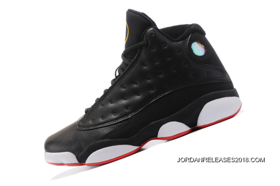 "09b5ced10760 2018 Super Deals Air Jordan 13 ""Playoffs"" Black True Red-White ..."
