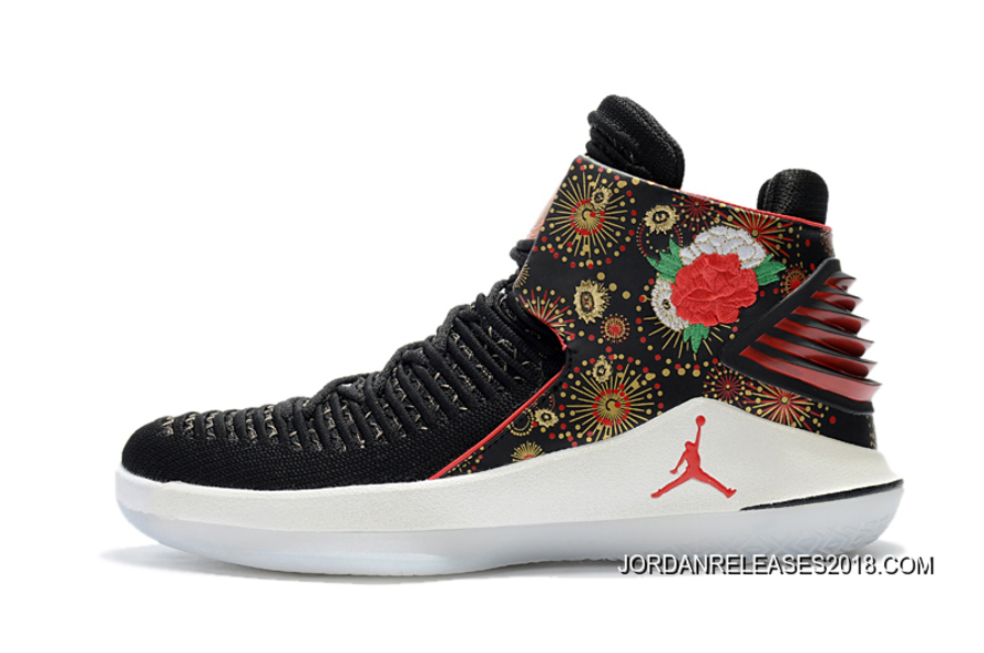 "e383ed68d14 2018 Top Deals Air Jordan 32 ""CNY"" Black/University Red/White ..."