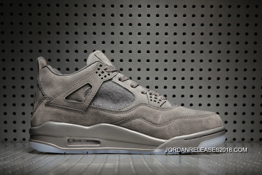 "e4735deb4b00 2018 New Style KAWS X Air Jordan 4 ""Cool Grey White"" Glow In The ..."