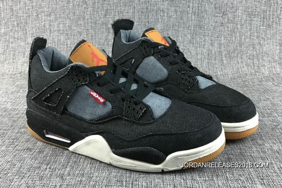 6bed5095757caf Top Deals Levi s Air Jordan 4 Black Denim
