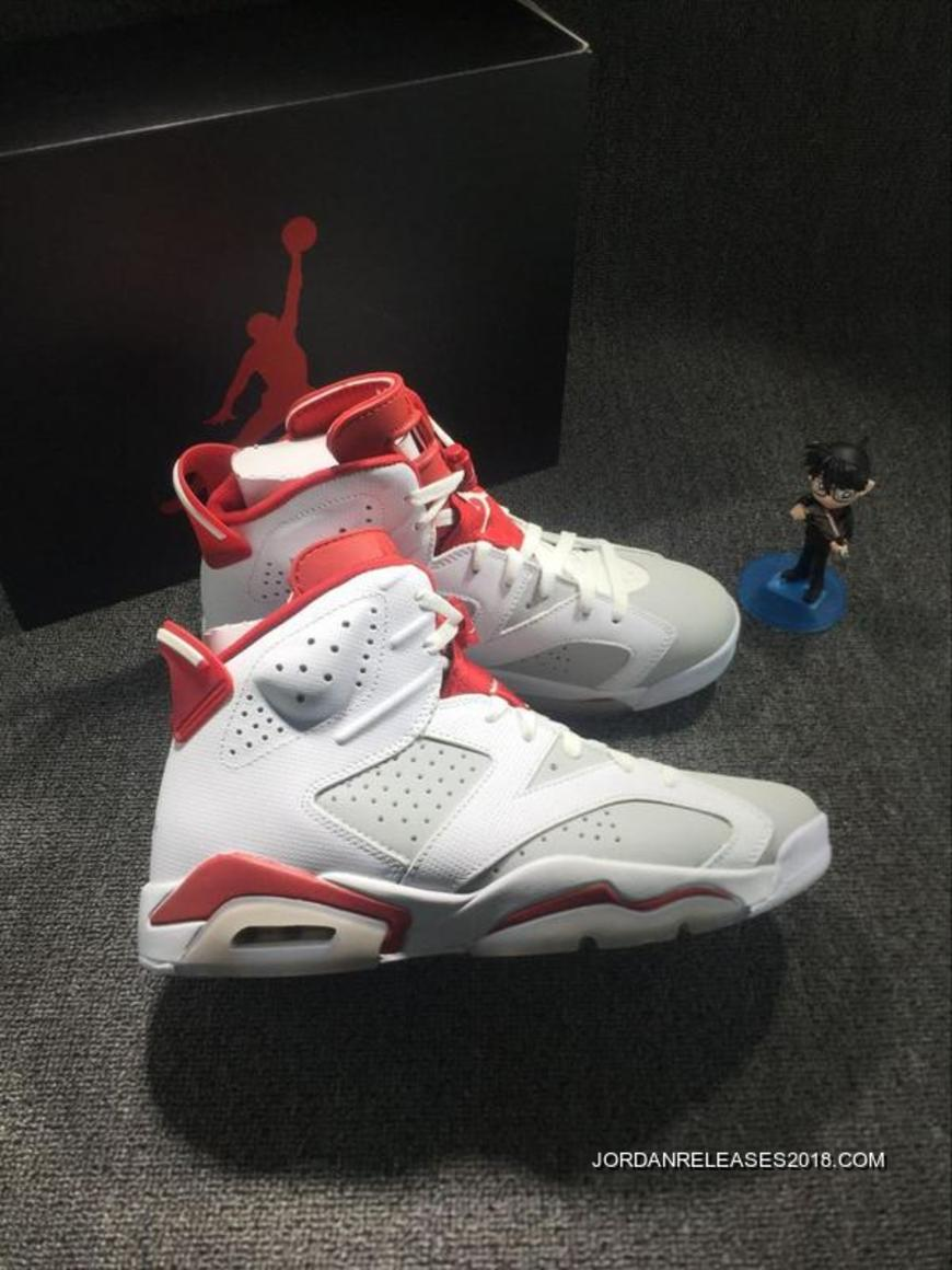 Air Jordan 6 Hare White And Pure PlatinumGym Red New Year Deals