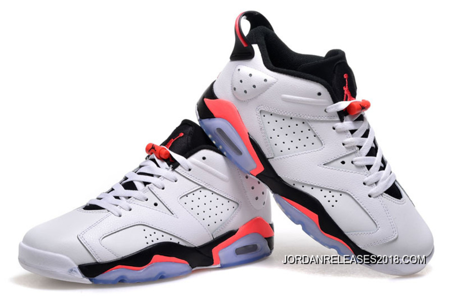 a2c7b17ddb9f1e New Air Jordan 6 Low White Infrared 23-Black 2018 Top Deals