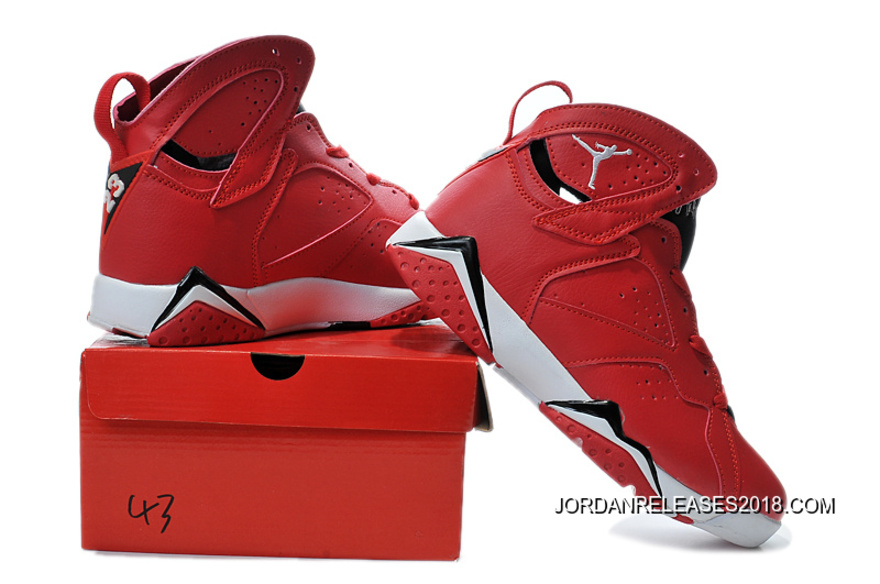 online store 57b0b 51836 New Air Jordan 7 Red Black White Shoes 2018 New Style
