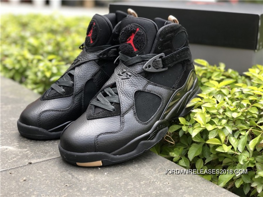 "reputable site c3b5d da158 2018 Best Air Jordan 8 ""OVO"" Black/Blur-Metallic Gold-Varsity Red"